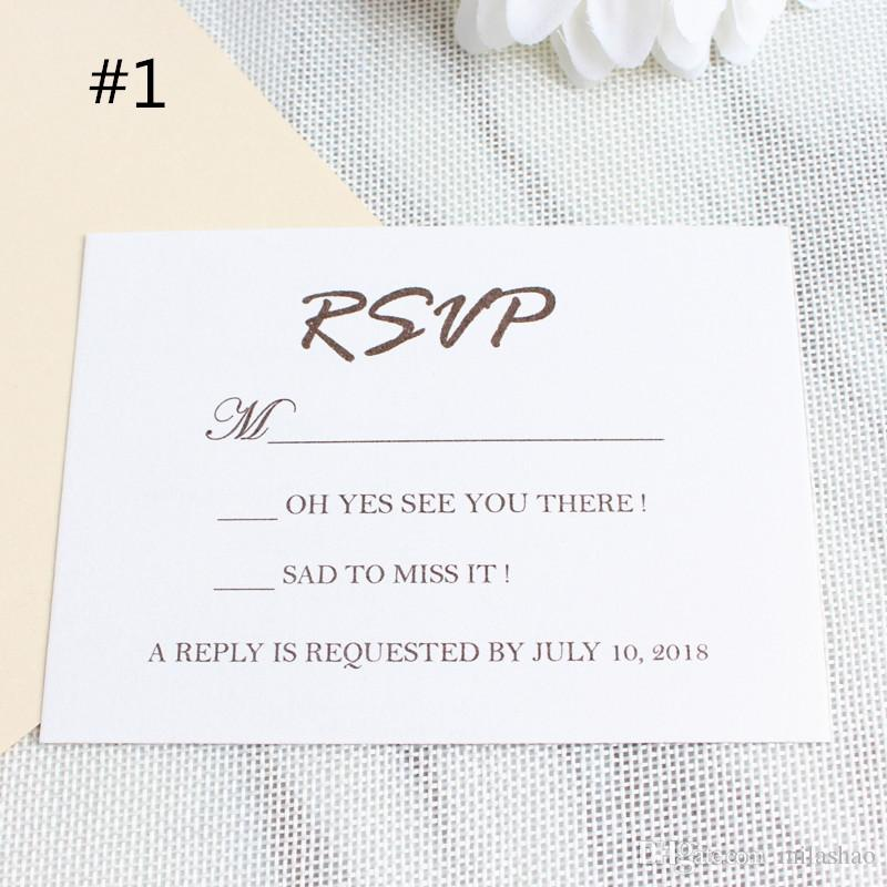 Wedding Invitation Rsvp Card Size Approximately 3 5 X4 9 90x125mm Printing Can Be Customized 100pcs Lot