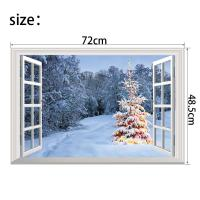 Christmas Decorative Wall Stickers 3D False Windows ...