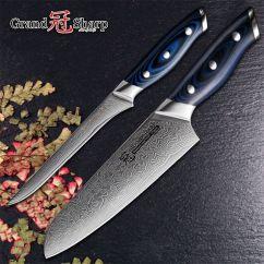Kitchen Knife Sets For Sale Cabinets Mn Grandsharp Damascus Vg10 Steel Japanese 6 5 Santoku 9 Boning Set With Gift Box Knives On