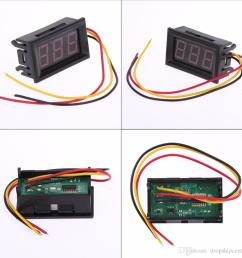 2017 new red led panel meter digital voltmeter dc 0 to 99 9v mini red led display low power consumption define voltmeter voltage meters from dropshipcenter  [ 1000 x 1000 Pixel ]