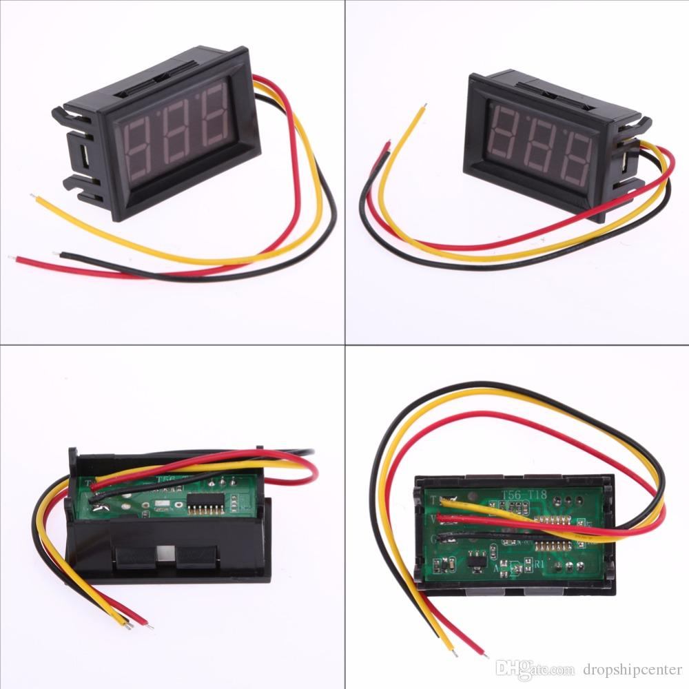 hight resolution of 2017 new red led panel meter digital voltmeter dc 0 to 99 9v mini red led display low power consumption define voltmeter voltage meters from dropshipcenter