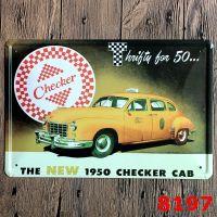 Vintage Car Tin Sign Retro Wall Decor Retro Metal Craft ...