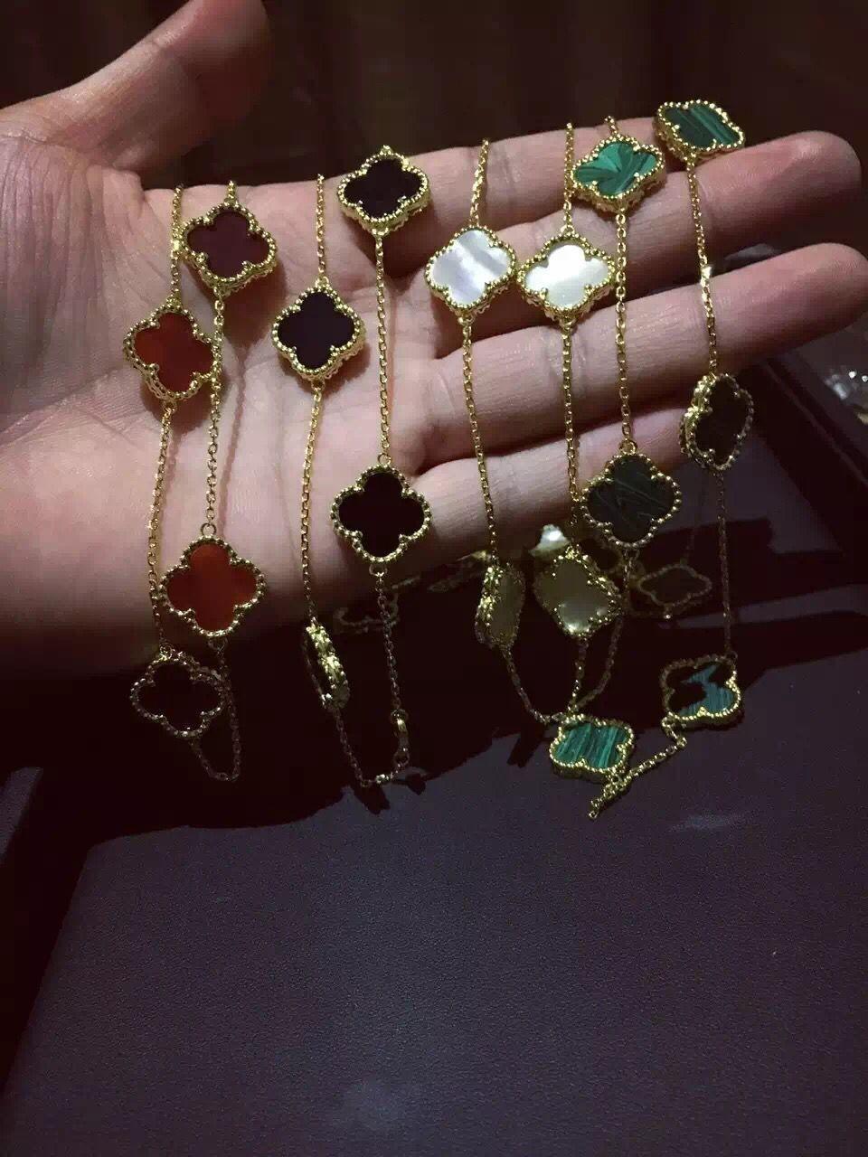 2019 Luxury Brand Designer Women Vintage Alhambra Long