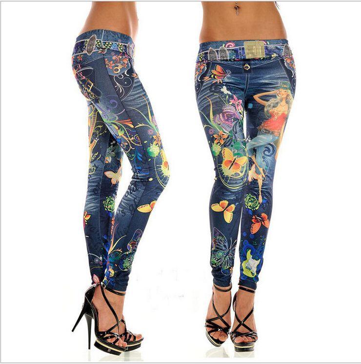 Compre 2015 Marea Mujeres Sexy Polainas Pantalones Vaqueros Gossip