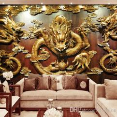Beautiful Wall Art For Living Room Texture Ideas Custom 3d Wallpaper Wood Carving Dragon Photo ...