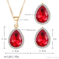 Online Cheap Bridesmaid Jewelry Set Women Crystal Earring ...