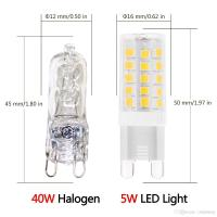 G9 Led Light Bulbs 5 Watt,Equivalent To 40 Watt Halogen