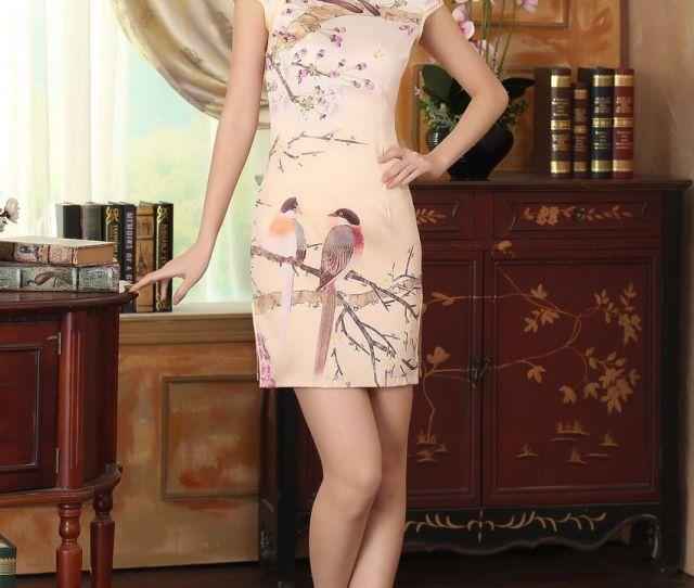 Silk Cheongsam Dress Oriental Sexy Qipao Cheongsam Dress Chinese Traditional Dress Chinese Cheongsam Dresses D0002