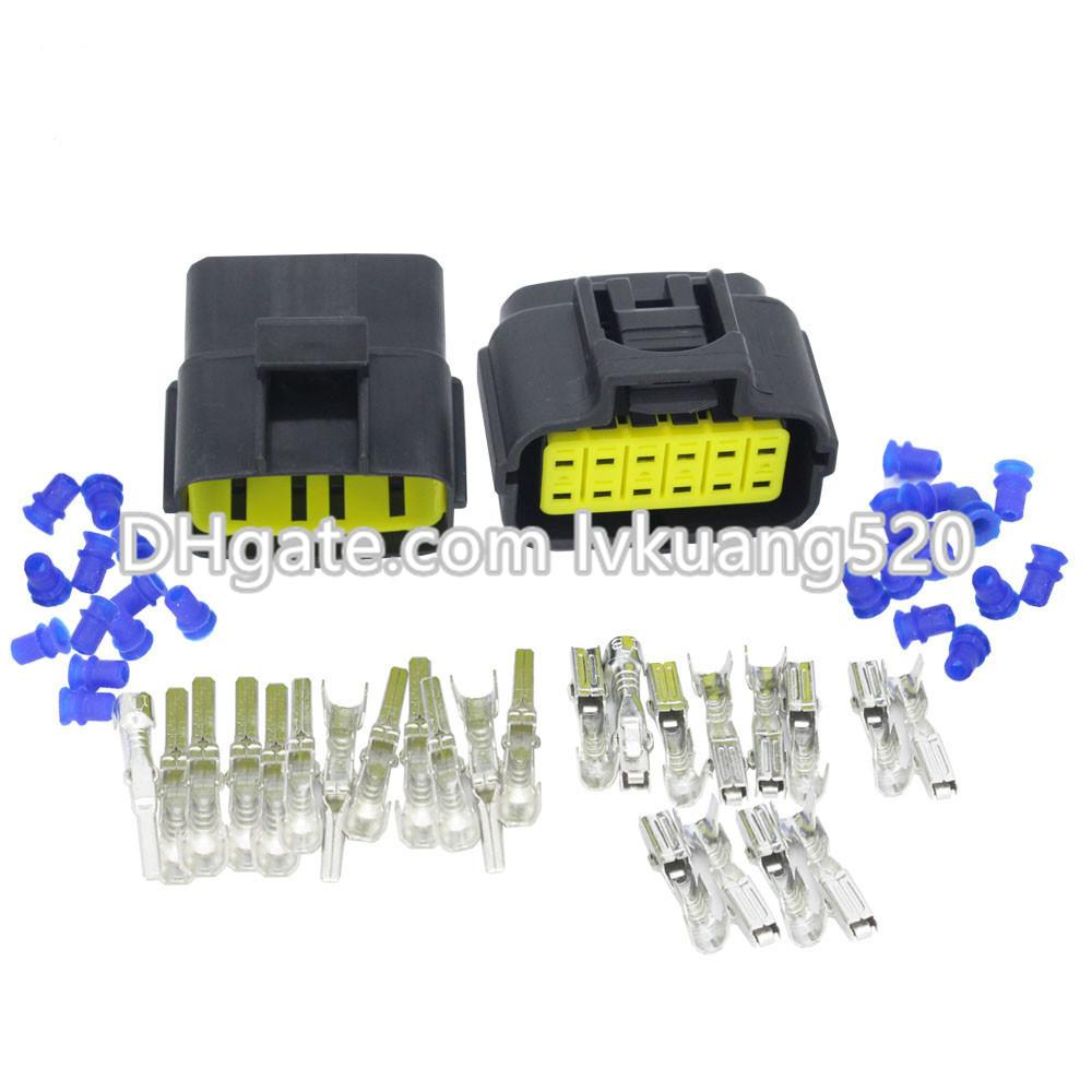 Waterproof Electrical Wire Connector Plug 10 Sets Automotive Marine