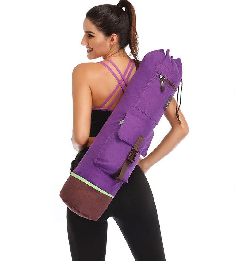 acheter 75 18 cm yoga sac double fermeture a glissiere impermeable poche multifonctions pilates tapis de yoga sac tapis de danse sport fitness sac a