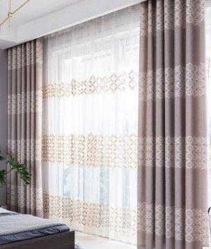 acheter 2020 vente chaude rideau simple sensation de velours jacquard rideau velours broderie tissage demi rideau jacquard de 35 44 du wholesale