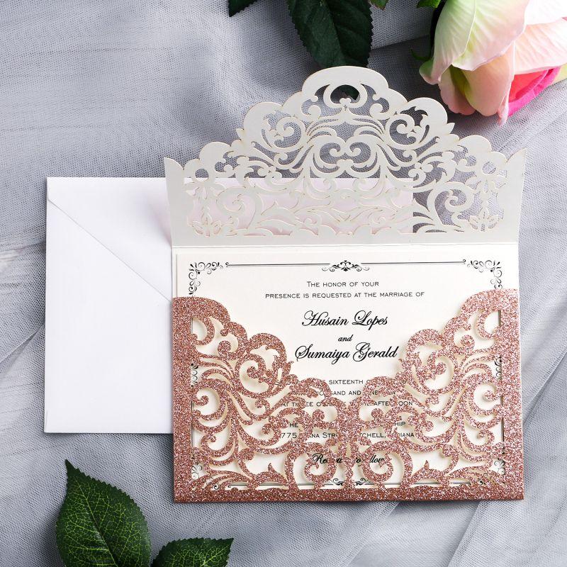 2020 gorgeous rose gold glitter laser