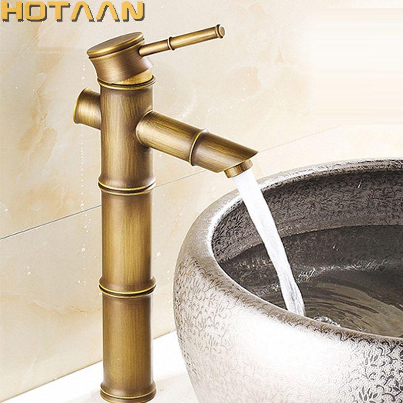 2021 basin faucet antique brass bamboo