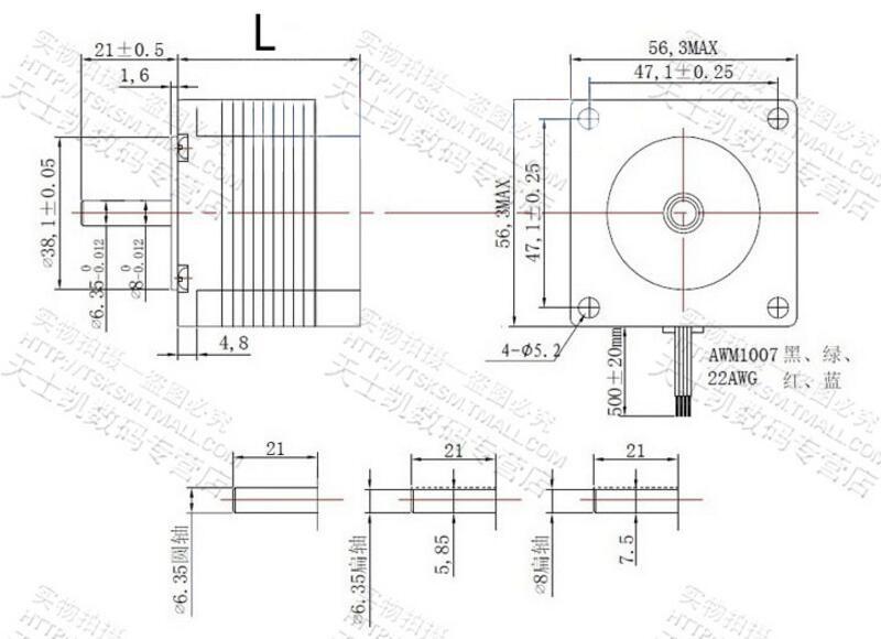 Nema 23 Stepper Motor 57mm 3A Drive TB6600 Motor For Laser