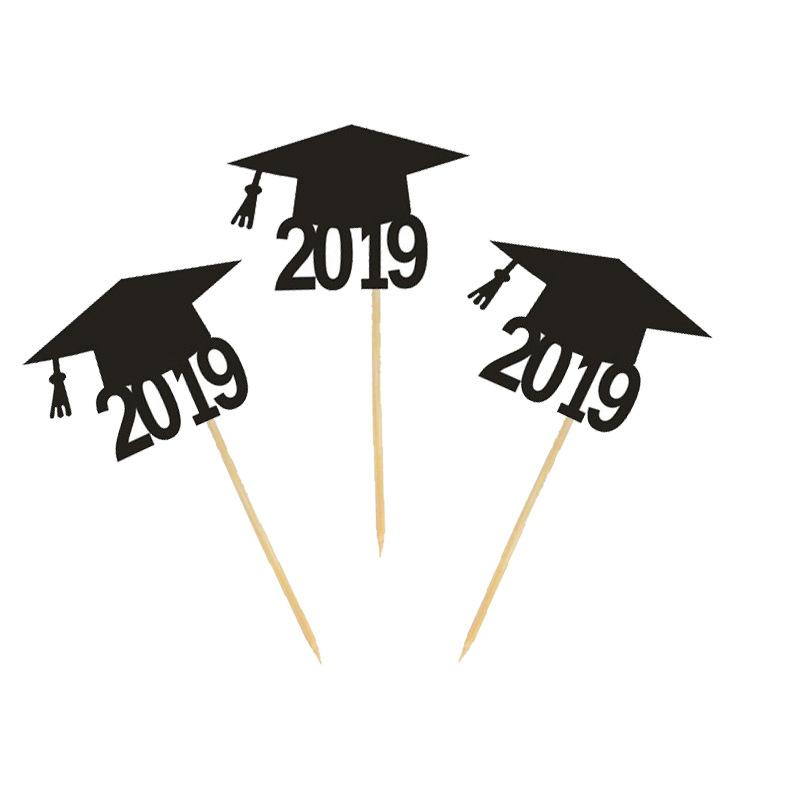 /Bag Graduation 2019 Caps Cake Topper Cupcake Topper Cake