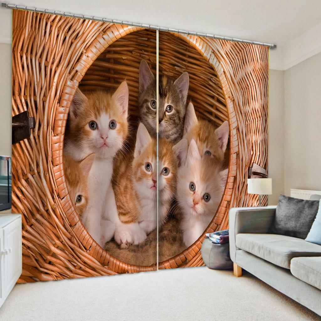 acheter rideaux de chat belle 3d rideaux pour le salon enfants chambre rideaux de personnalite de tissu de 60 69 du wallpaper01 fr dhgate com