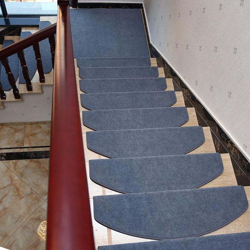 Yazi Non Slip Stairs Carpet Self Adhesive European Pastoral Floral | Berber Carpet For Stairs | Best Quality | Contemporary | Decorative | Textured | Marine Backing