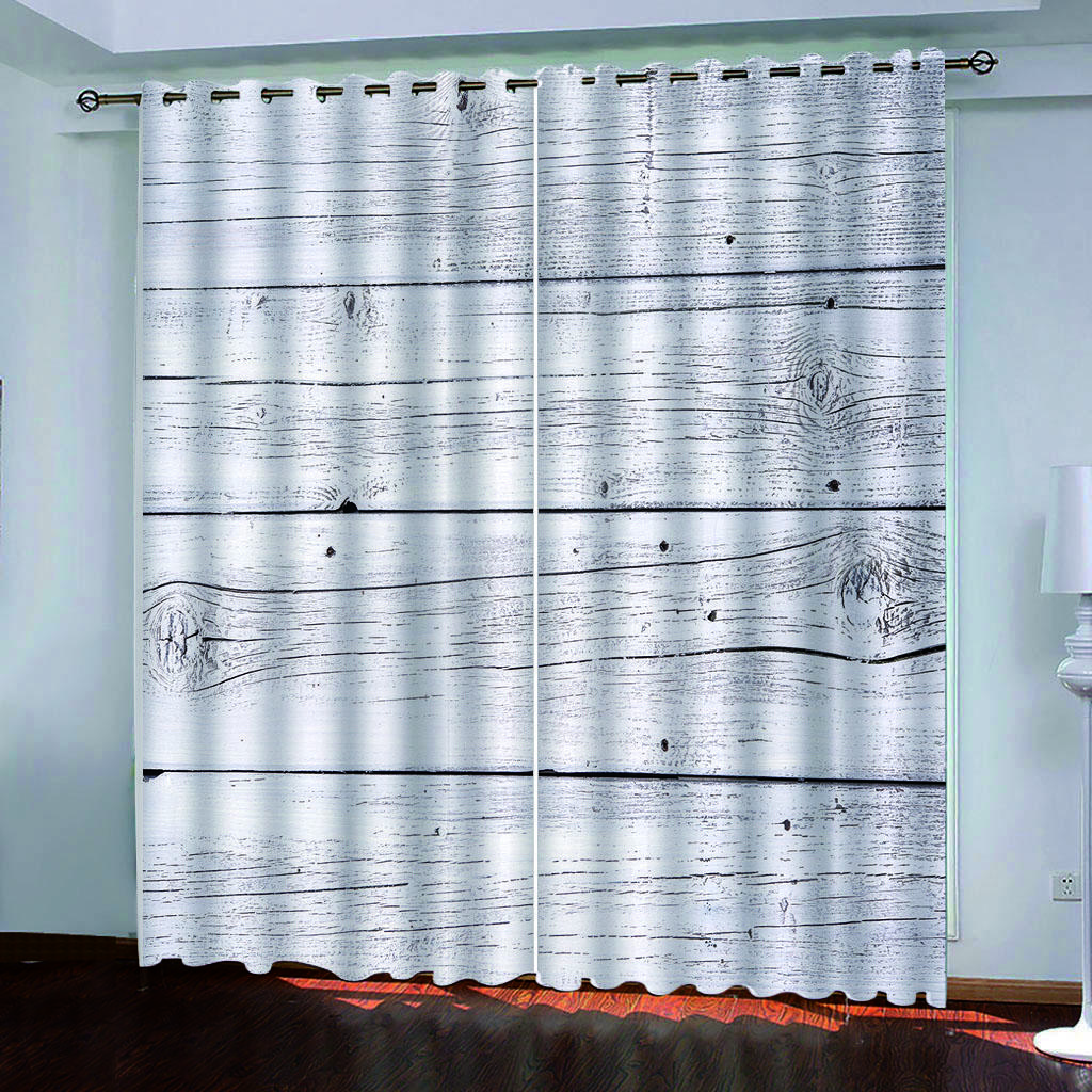 2021 3d digital print fashion white wood grain custom blackout curtain for living room bedroom home decor from lcwallpapers 74 dhgate com