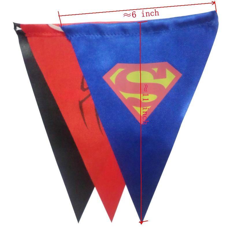 superhero banner party flag