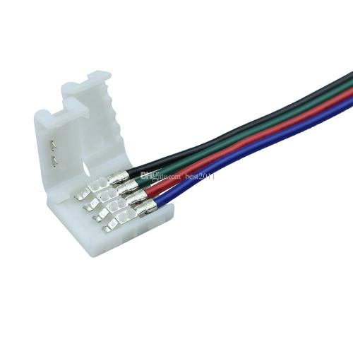 small resolution of  10mm 4pin rgb led strip connector wire clip cable for 5050 rgb led strip ribbon tape