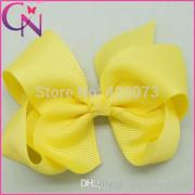 4 solid hair bow with clip