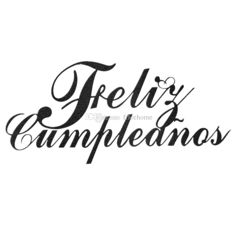 2019 Cake Flag Espanol DIY Spainish Feliz Cumpleanos Cake