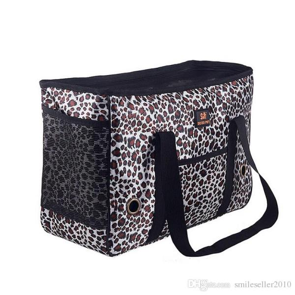 2019 Hot Leopard Print Pet Carrier Cat Dog Bag Soft