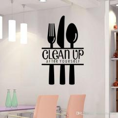 Kitchen Wall Art Silicone Tools Quote Decal Decor Mural Poster With Letter For Room Dinning Decoration