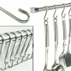 Kitchen Hooks Latest Gadgets 2019 Powerful Silver S Shape Hook 304 Stainless Steel Hanger Pot Pan Flat Hook8