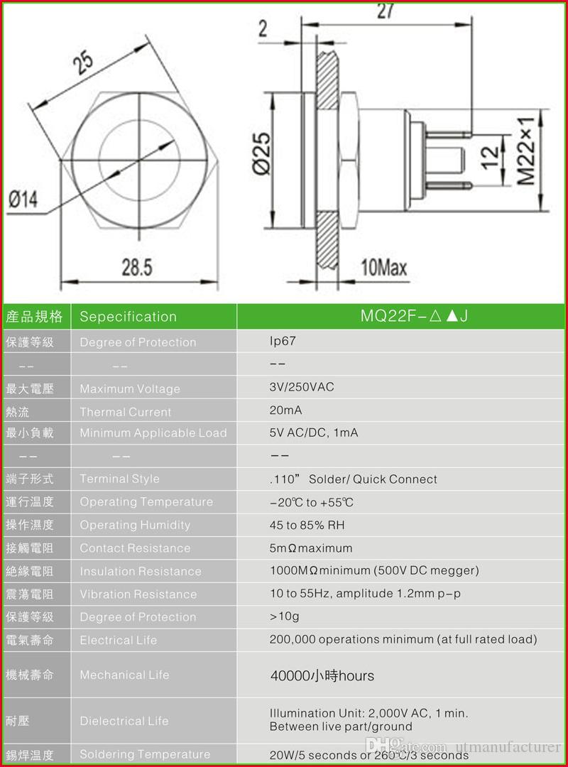medium resolution of  22mm 12v 24v dual color red green blue led indicator light metal waterproof ip67