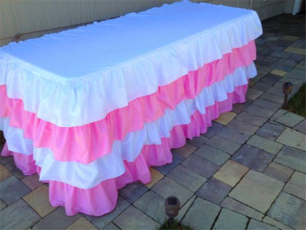 diy organza chair covers sudden comfort folding chairs 2018 skirt table polyester wedding pink tulle for princess party ...