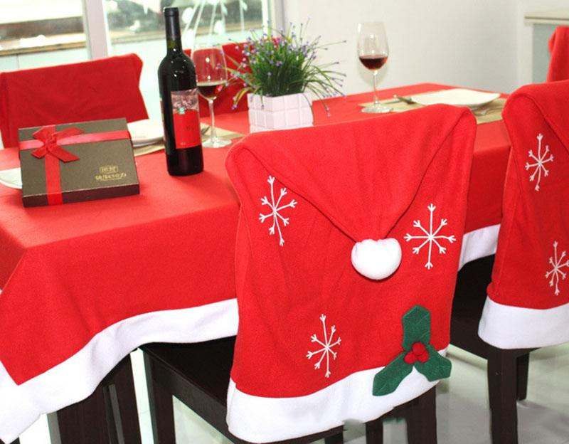 christmas folding chair covers pub tables and chairs banquet dining for party cover decoration red flock 57 46cm