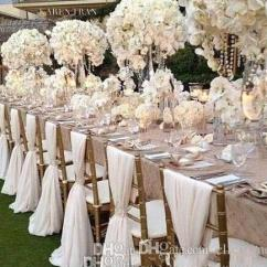 Chair Covers Cheap Padded Stadium Chairs With Backs 2019 Simple Sashes Chiffon Wedding Cover Romantic Bridal Party Banquet Back Favors
