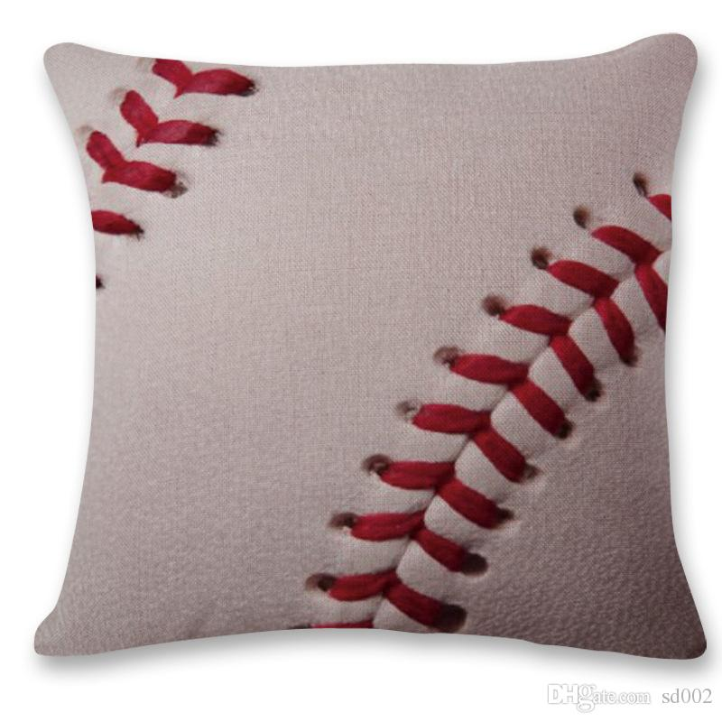 baseball print cushion cover
