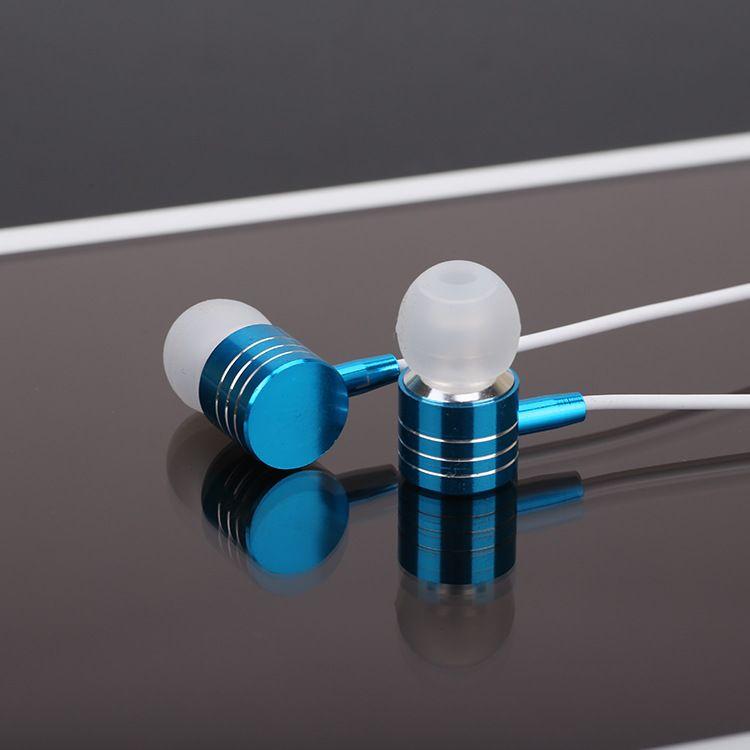 Auriculares intrauditivos de 3,5 mm para auriculares de metal en el oído para Iphone Xiaomi Samsung HTC Huawei LG SONY con paquete de venta al por menor