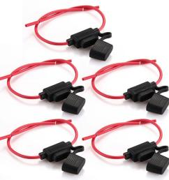 hot sale car inline blade fuse holder waterproof middle sized black red new [ 1100 x 1100 Pixel ]