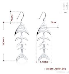 fish dangle silver earrings 925 silver earrings women s jewelry fashion hollow ear ring 100  [ 1001 x 1001 Pixel ]