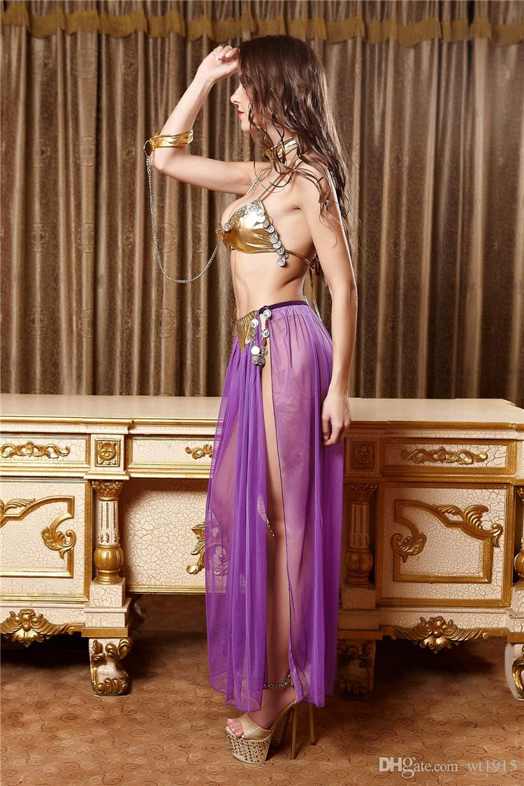 2019 Purple Lingerie Suit Arab Belly Dance Role Playing ...