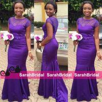 Beautiful Regency Purple Long Bridesmaid Dresses For ...