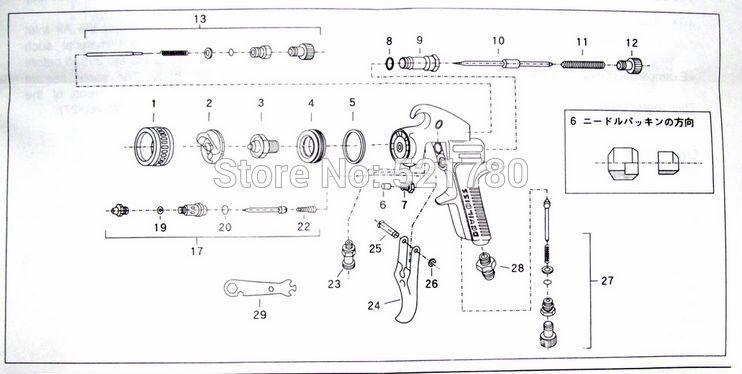 devilbiss spray gun parts diagram 1999 honda accord engine 2019 japan imported manual paint jgx 502 for car 3 jg