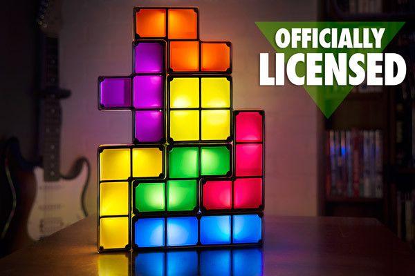top 100 original marque tetris empilable led lampe de bureau nouveaute tetris lumiere retro