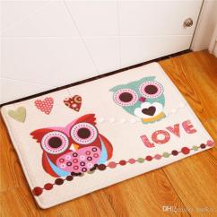 Owl Kitchen Rugs Decorating Themes 2017 New Home Decor Animal Carpets Non Slip For Living Room