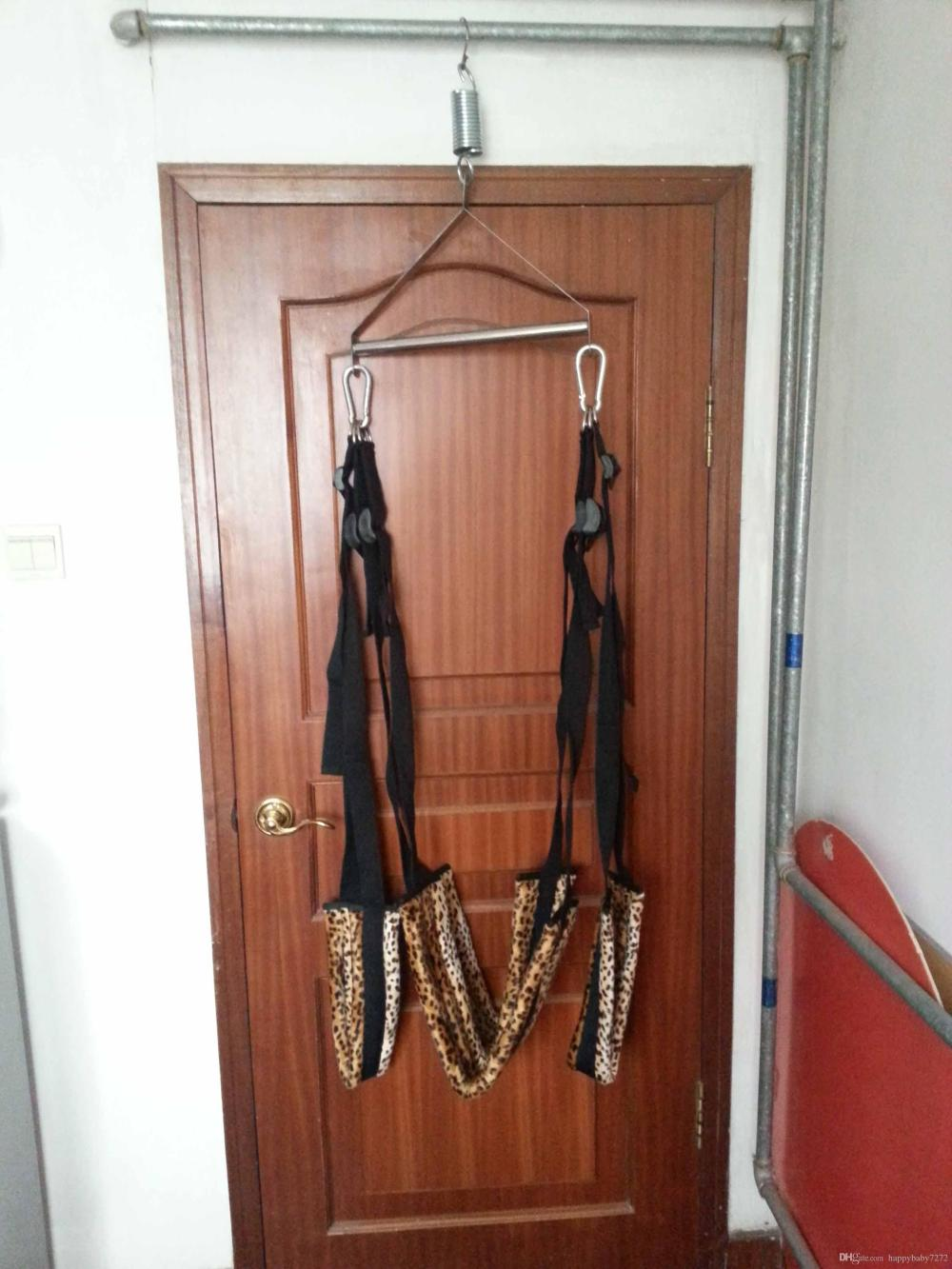 medium resolution of  leopard swing chairs with tripod lover s aid toy fetish bondage body sex swing harness tool new