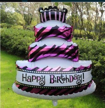2019 Mini Cake Party Foil Balloons Birthday Air Balls Happy Birthday