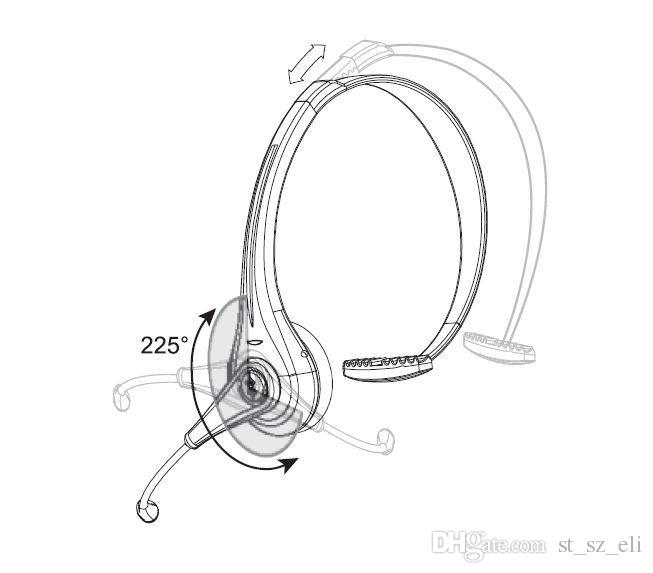 Wireless Bluetooth Headset With Boom Mic BTH 068 For Phone
