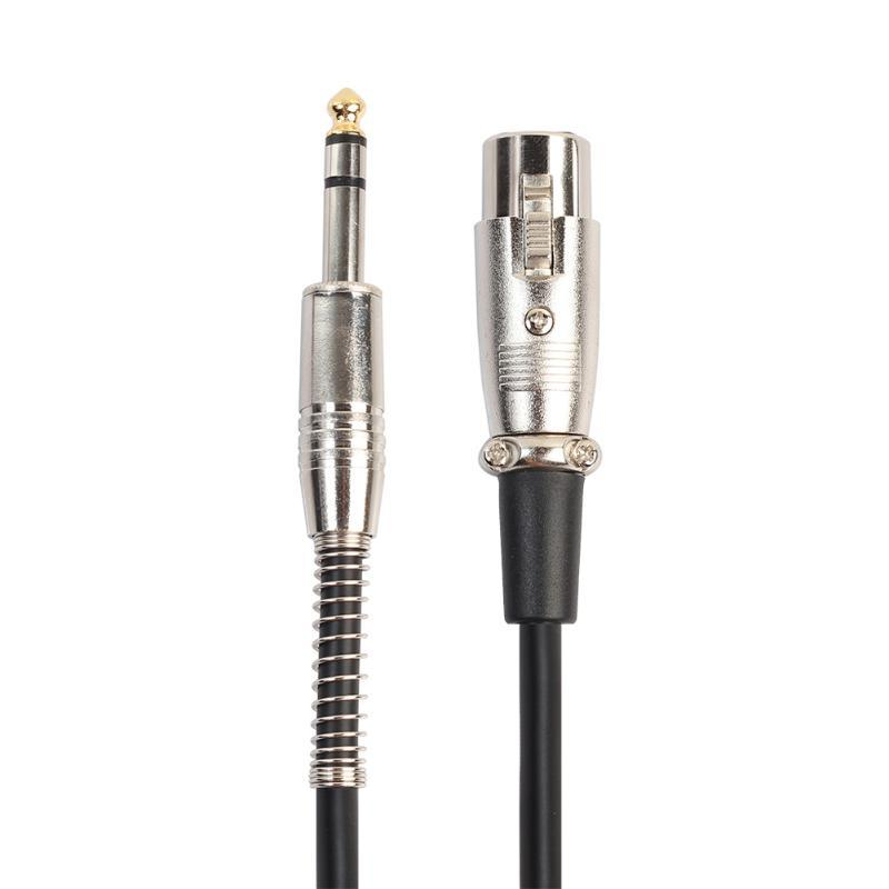 6.35mm Jack Male To XLR 3PIN Female Microphone Cable Zinc