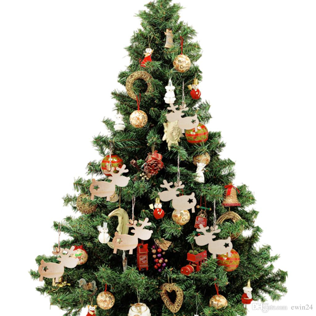 wooden christmas tree hanging