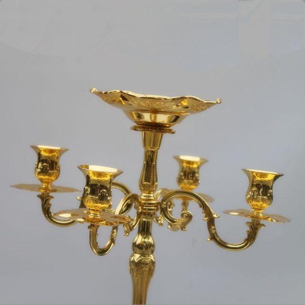 Arrival Gold Finish Floor Candelabra 85cm Metal Candle