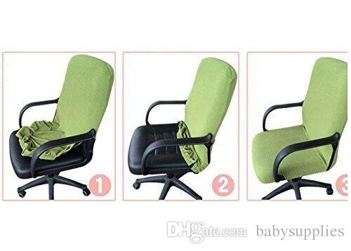 chair covers office seats swivel barrel slipcovers cloth pads removable cover stretch cushion resilient fabric