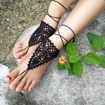 Beach Wedding Crochet Barefoot Sandals Nude Shoes